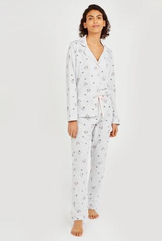 Minnie Mouse All Over Print Shirt and Pyjama Set