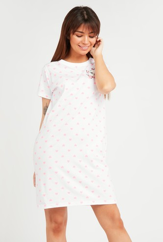 Marie Print Sleepdress with Short Sleeves