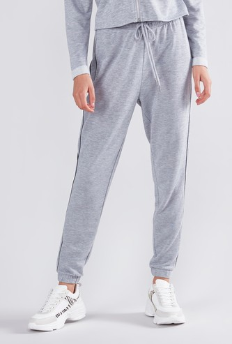 Full Length Cuffed Joggers with Drawstring Closure