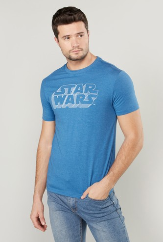 Star Wars Printed T-shirt with Short Sleeves