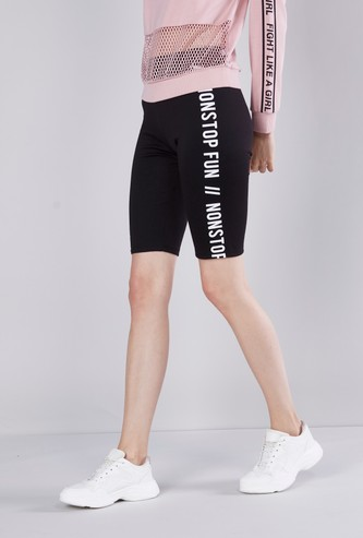 Printed Knee Length Cycling Shorts