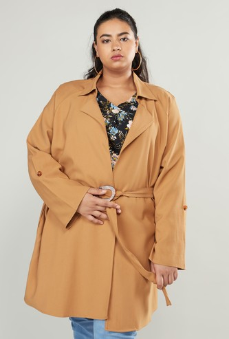 Solid Trench Jacket