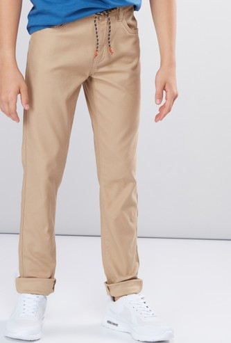 Full Length Pants with Drawstring and Pocket Detail