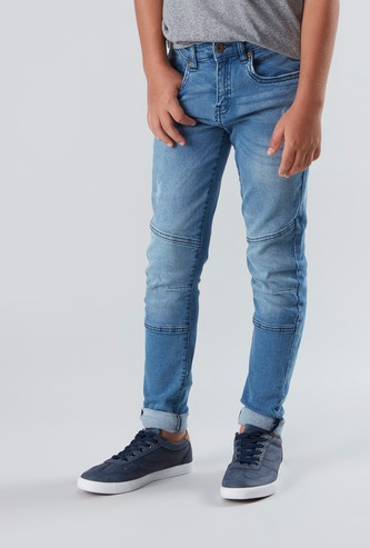 Panelled Jeans with Pocket Detail