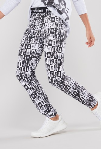 Frozen Printed Leggings with Elasticised Waistband