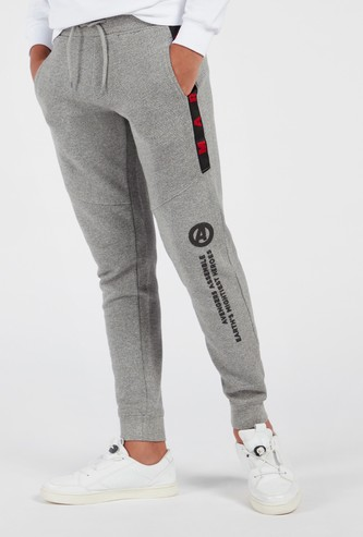 Marvel Printed Full Length Joggers with Drawstring Closure