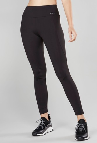 Solid Ankle Length Mid Rise Leggings
