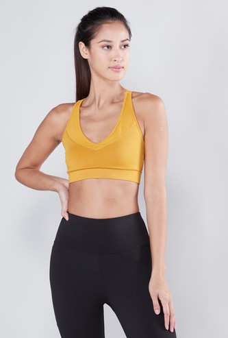 Textured Racerback Sports Bra