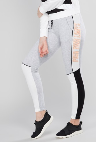 Printed Jog Pants with Drawstring and Pocket Detail