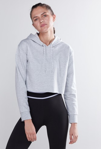 Plain Boxy Hoodie with Long Sleeves
