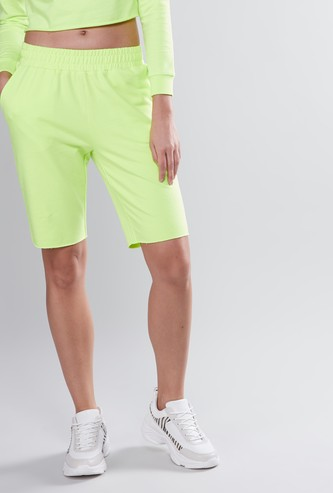 Plain Shorts with Elasticised Waistband