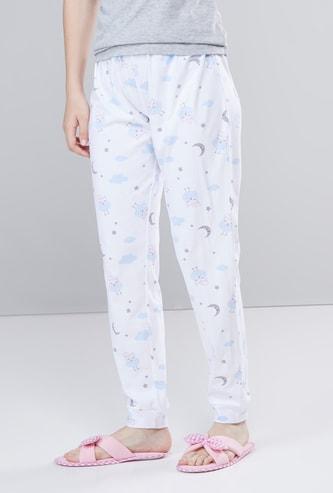 Printed Full Length Pyjama with Elasticised Waistband