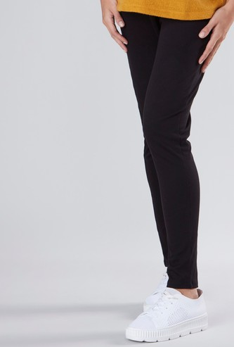 Maternity Full Length Jeggings with Elasticised Waistband