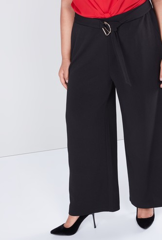 Solid Palazzos in Wide Fit