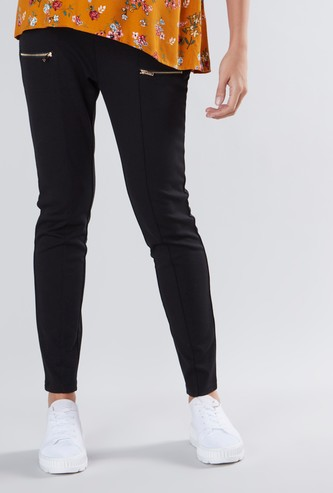Maternity Ponte Jeggings with Elasticized Waistband