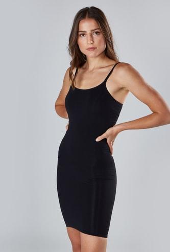 Textured Sleeveless Dress Shaper