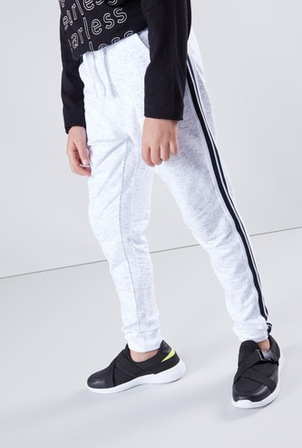 Full Length Jog Pants with Tape Detail