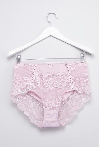 Floral Patterned Lace Hipster Briefs
