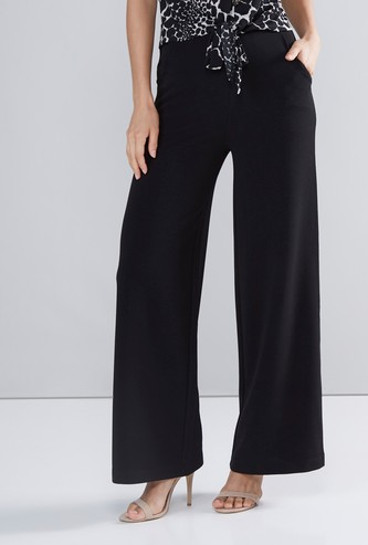 Mid-Rise Solid Palazzos with Pockets