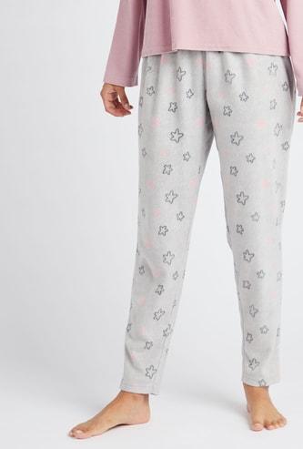 Full Length Star Print Pyjamas with Elasticated Waistband