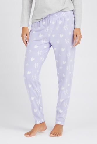 Full Length Printed Pyjamas with Elasticated Waistband