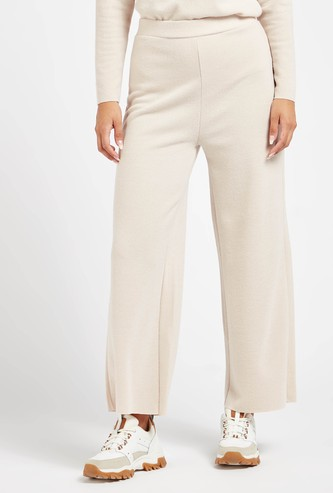 Solid Palazzos with Elasticised Waistband