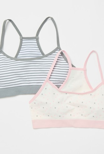 Pack of 2 - Assorted Non-Padded Racerback Bra
