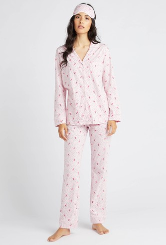 Printed 3-Piece Nightwear Set
