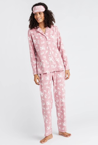 Printed 3-Piece Sleepwear Set