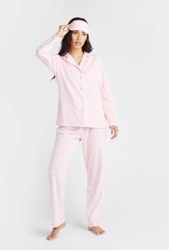 Striped 3-Piece Nightwear Set