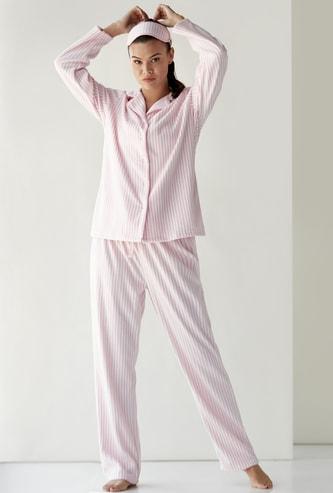 طقم ملابس نوم 3 قطع مقلمة من كوزي - مجموعة هدايا