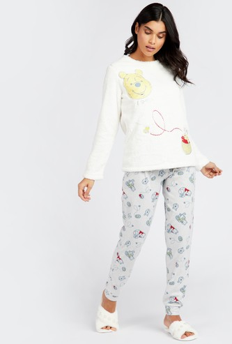 Printed Round Neck Top and Printed Pyjama Set