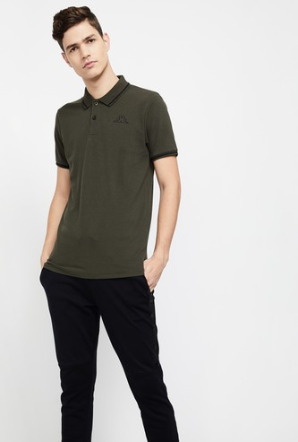 KAPPA Regular Fit Contrast Tipping Pique Knit Polo T-shirt