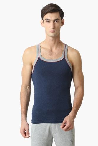 JOCKEY Contrast Strap Knitted Innerwear Vest