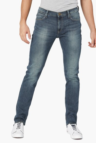 LEE Stonewashed Low Rise Skinny Fit Jeans