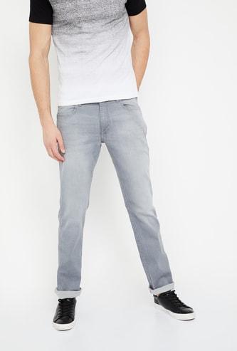 WRANGLER Light Fade Regular Fit Low Rise Jeans