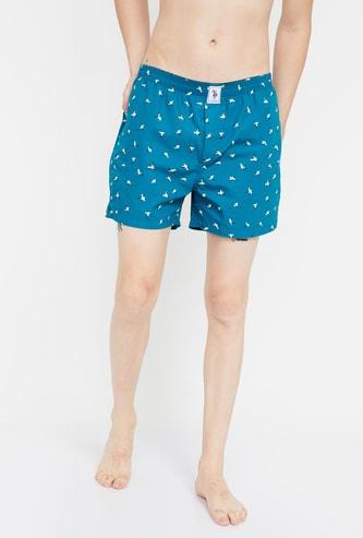 U.S. POLO ASSN. Printed Boxer Shorts  - Assorted Colour & Design