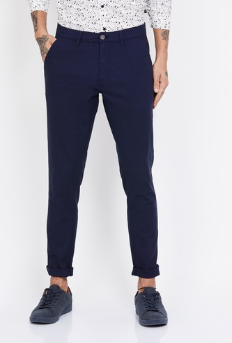 CODE Solid Slim Tapered Trousers