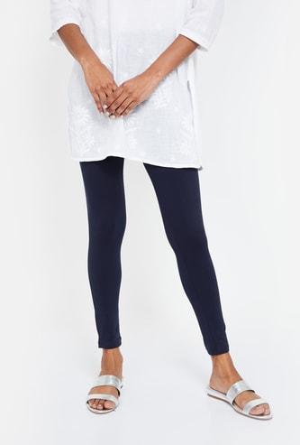 DE MOZA Solid Cropped Leggings