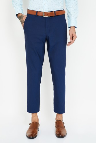 CODE Textured Slim Tapered Trousers