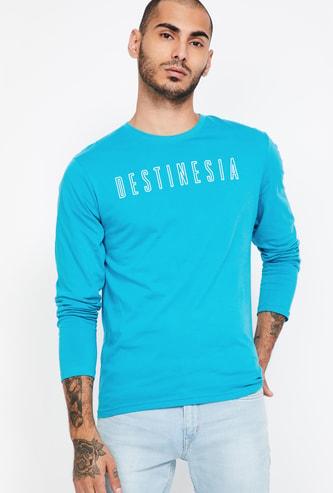 FAME FOREVER Printed Regular Fit Crew Neck T-shirt