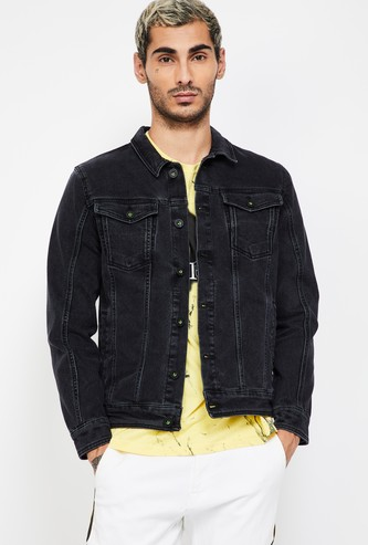 BOSSINI Solid Regular Fit Denim Jacket