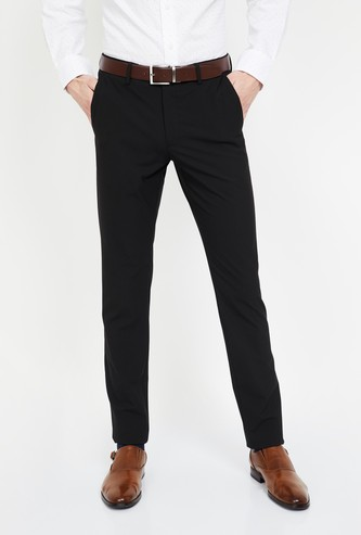 LOUIS PHILIPPE Solid Super Slim Formal Trousers