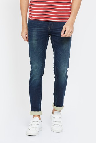 CELIO Stonewashed Slim Tapered Jeans