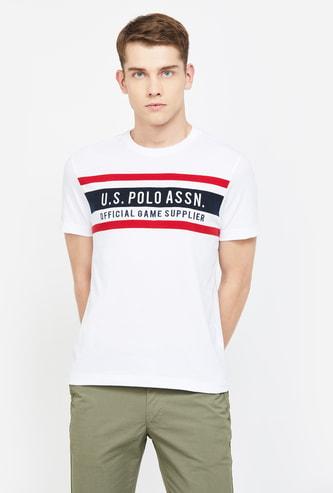 U.S. POLO ASSN Typographic Print Regular Fit T-shirt