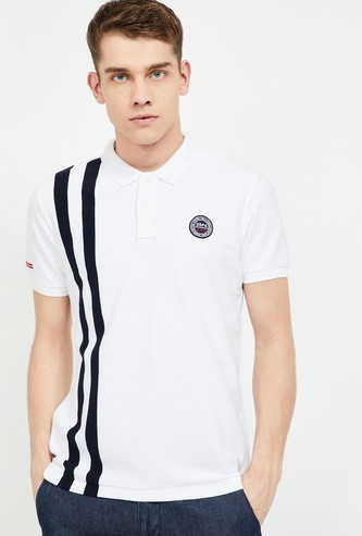 U.S. POLO ASSN. Striped Regular Fit Polo T-shirt