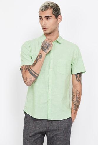 CODE Textured Short Sleeves Regular Fit Shirt