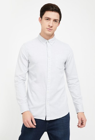 LEE Solid Slim Fit Casual Shirt
