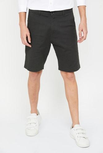 FORCA Men Solid Slim Fit Casual Short