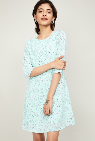 ALLEN SOLLY Women Floral Print A-line Dress